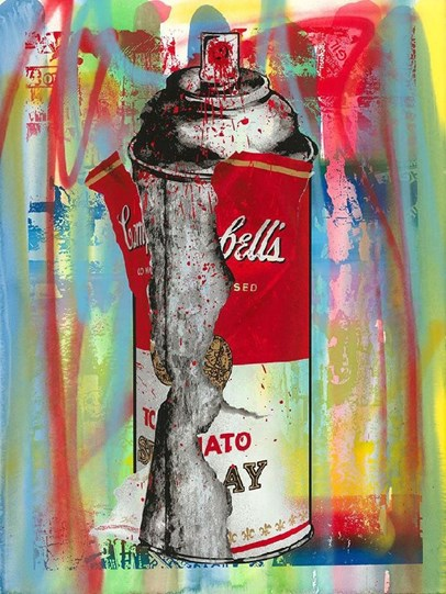 Torn Spray Can by Mr Brainwash - Unique